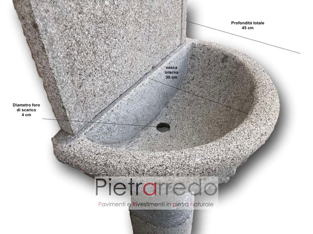 """Vasche In Pietra Per Fontane fontana in granito, modello """"impero"""""""