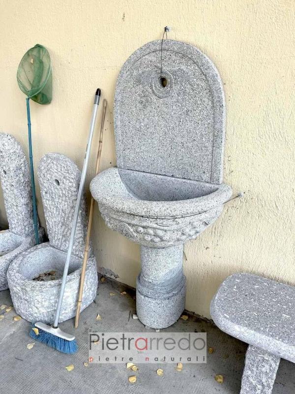 fontana in granito impero pietrarredo da murro sasso vero grande decorata prezzo