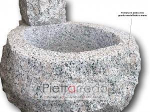fontana vedova in sasso pietra mila pietrarredo milano prezzo milano pietrarredo giadinaggio stone garden price