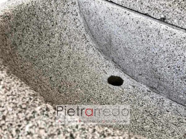 granite syone grey fountain pietrarredo milano impero prezzi offerta sasso fatta a mano con decorazioni