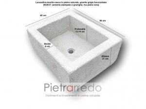 lavandino in pietra sasso vero granito anticato bocciardato rustico per baita prezzo pietrarredo milano