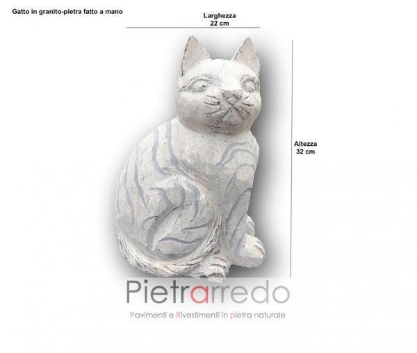 misure gatto cat per arredo giardino in sasso pietra offerta pietrarredo animal garden