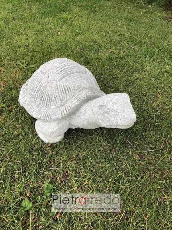 offerta bellissima tartaruga in pietra naturale animali per giardino prato sasso pietrarredo milano