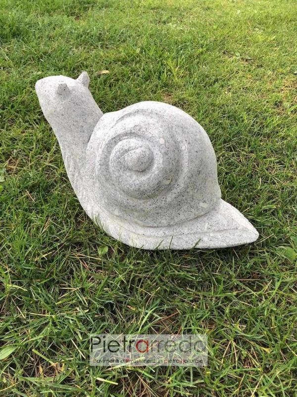 offerta lumaca chioccia in pietra granito fatta a mano pietrarredo milano prezzo costi