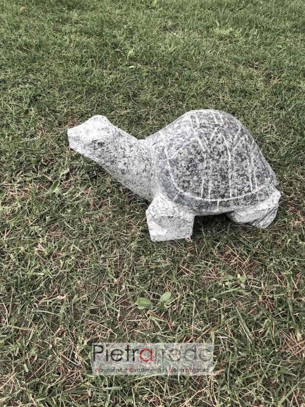 pietra decorative da giardinaggio tartaruga fatta a mano in sasso pietrarredo milano costo