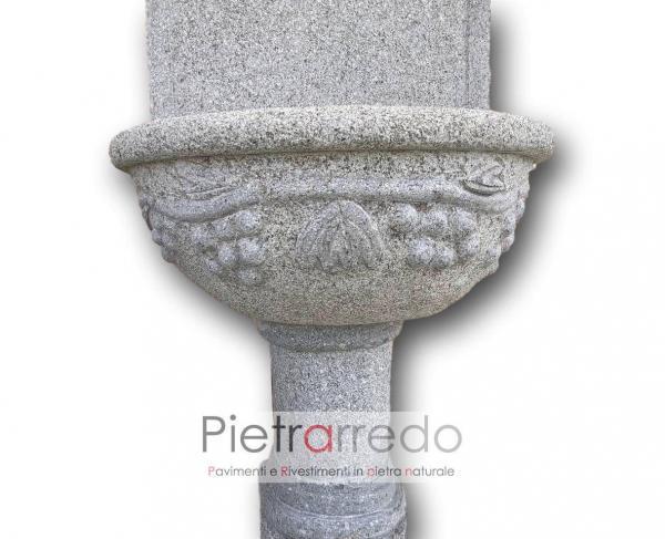 prezzo fontanone in granito grey granite carving pietrarredo milano costi oferta fatta a mano
