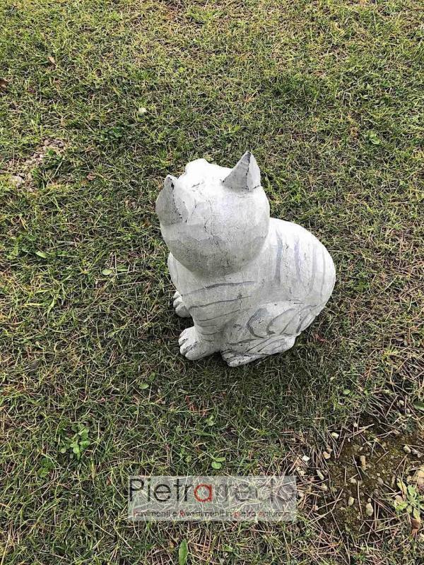 prezzo gattino decorativo in pietra garden stone pietrarredo milano animali da giardino