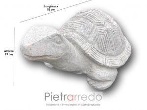 stone garden animal tartaruga da giardino in pietra granito grigio fatta a mano lavorata pietrarredo milano prezzo