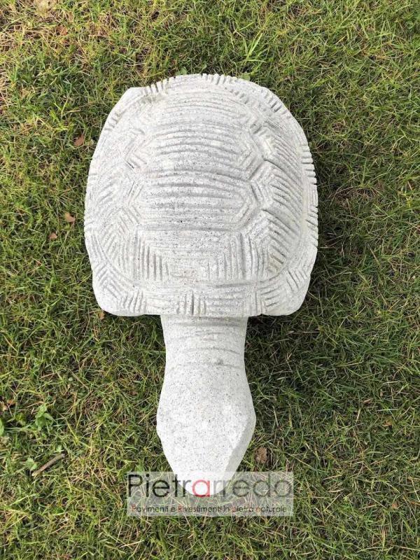 tartaruga in granito pietra fatta a mano scolpita per arredogiardino pietra naturale pietrarredo milano prezzo costi
