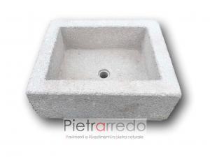 vaschetta e lavello lavandino in granito grigio lavandino prezzo pietrarredo milano lombardia