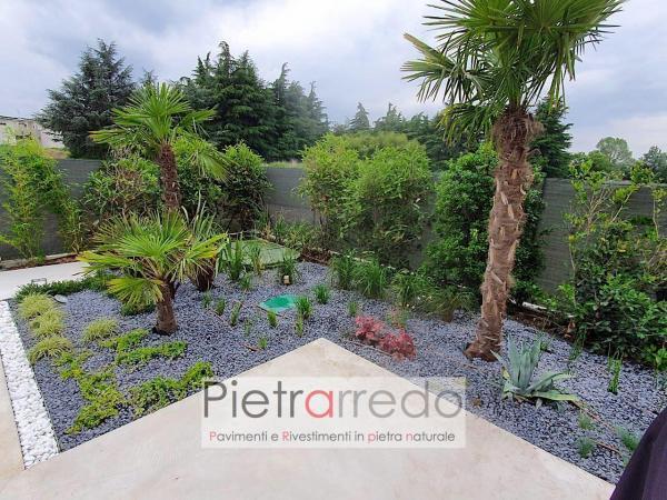 Prezzo arredo giardino pietra sasso ciottolo nero ebano pietrarredo milano costi stone city zandobbio_risultato