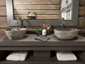 bellissimi lavandini in sasso pietra grezza rustica naturale moderno pietrarredo milano sink