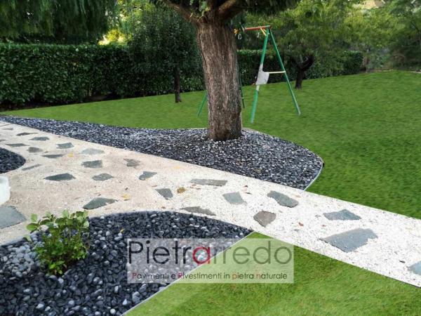 ciottolo nero ebano 15mm 25mm offerte per decorazioni aiuole prezzo costi stone garden zandobbio stone city pietraredo milano