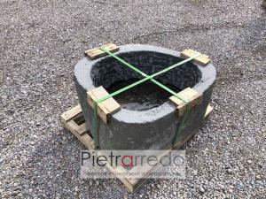costo e prezzo per blocco di pietra sasso scavato in ciotolo di fiume bello per arredo giadino pietrarredo
