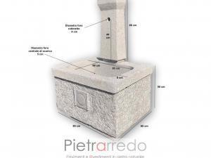 dettaglio misure fontana roma pietrarredo milano cm centimetri vasca e torre offerta