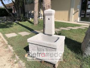fontana da terra in pietra granito rustico casale cascina modello roma pietrarredo milano prezzo