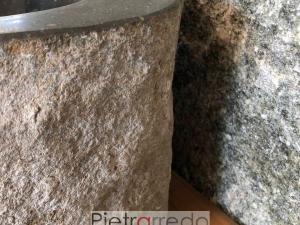 lavandini sasso grezzo pietra scavata rustico vecchio prezzo pietrarredo milano sink stone river price