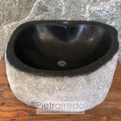 Arredo Bagno La Roccia.Lavandino In Pietra Con Attaco Rubineto Elegante Pietra In Offerta 50