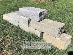 mattoncini in sasso per aiuole sassi luserna prezzo costi pietrarredo ilano bordure giardini giapponesi stone garden