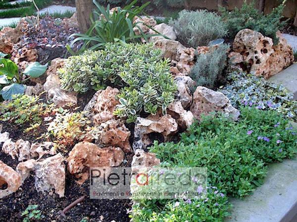 offerte sassi rocciosi beige per laghetti fontane giardini stone garden prezzo pietrarredo roccioso