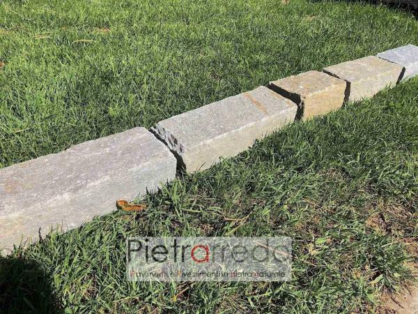 offerta binderi cordoli blocchetti luserna pietra vera sassi per aiuole arredo giardino bordure prezzo pietrarredo