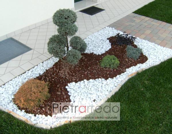 offerta prezzi ciottolo bianco carrara piccolo sassolino 15mm 25mm offerta pietraredo milano stone garden zandobbio
