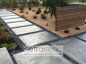 pavimento con sassolino ghiaia nero ebano costo pietra pietrarredo milano stone garden city deco