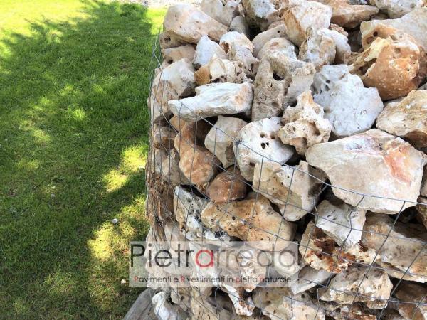 pietra ornamentale da giardino media 20 cm beige contenimento bordure aiuole sasso grezzo roccia pietrarredo prezzo
