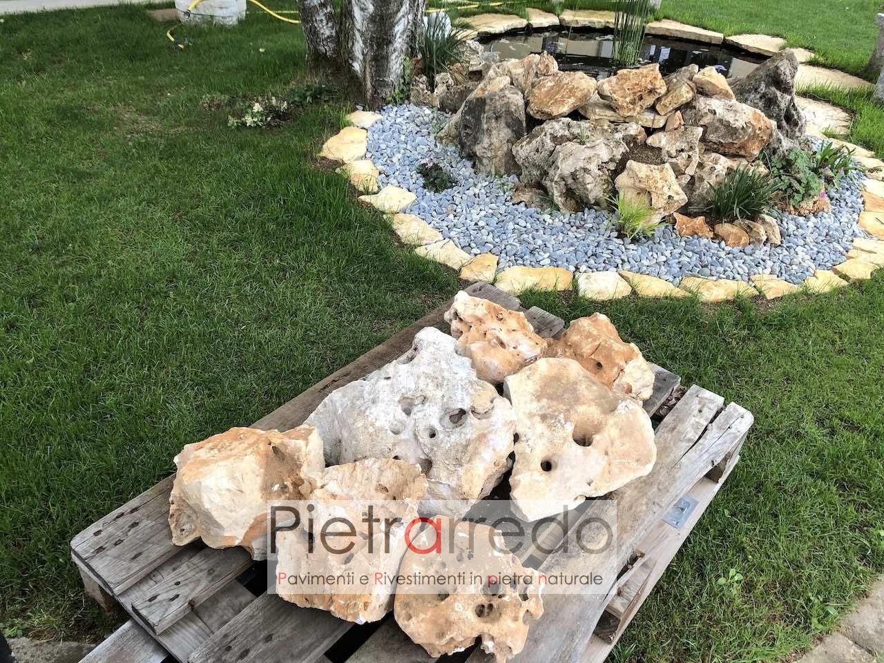 Fiori Da Giardino Roccioso pietre ornamentali da giardino, roccioso beige-pezzatura grande