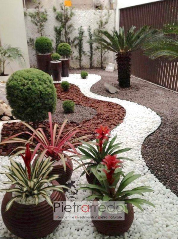 prezzo sassolino sasso ciottolo bianco ciotolo carrara pietrarredo aiuole garden prati stone garden
