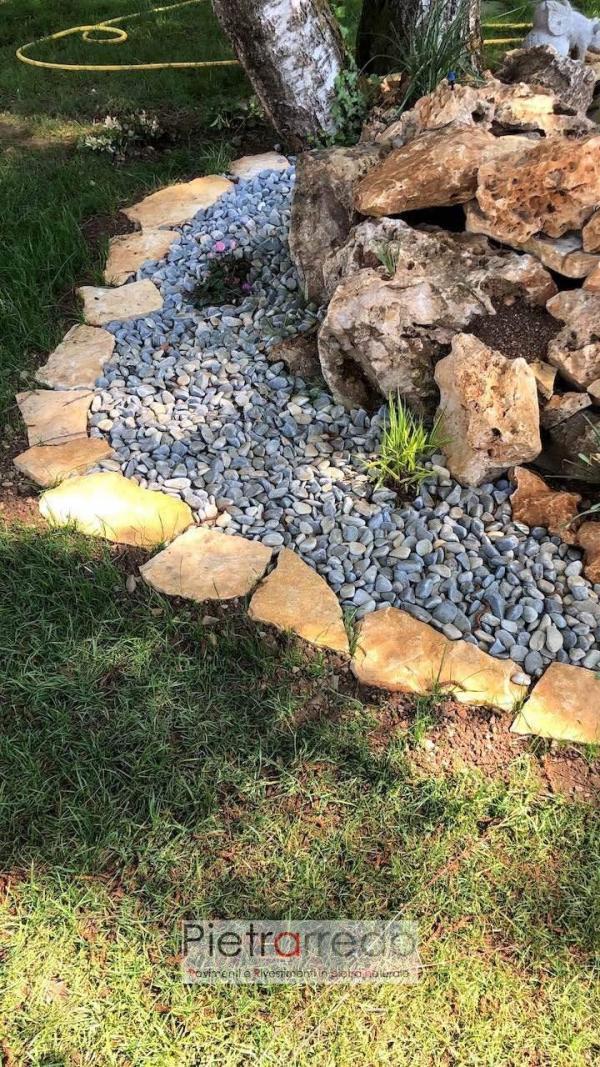 roccia per aiuola da giardino pietrarredo beige con buchi aiuole prezzo
