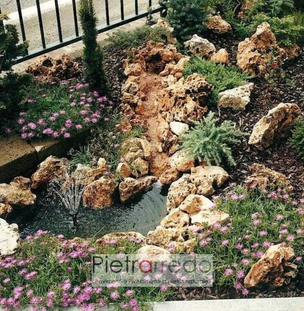 stone garden roccioso pietra giardino prati dislivelli sassi beige con buchi offerte pietrarredo garden