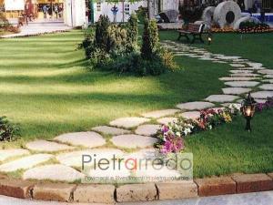 prezzo lastre giganti in pietra per camminamento su prato offerta costi pietrarredo milano antiqua trani scorza