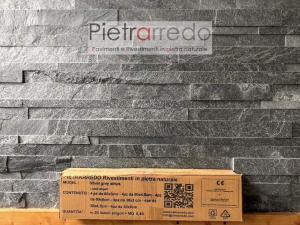 rivestimento in pietra naturale listelli singoli multilistello a moduli per pareti pietrarredo milano