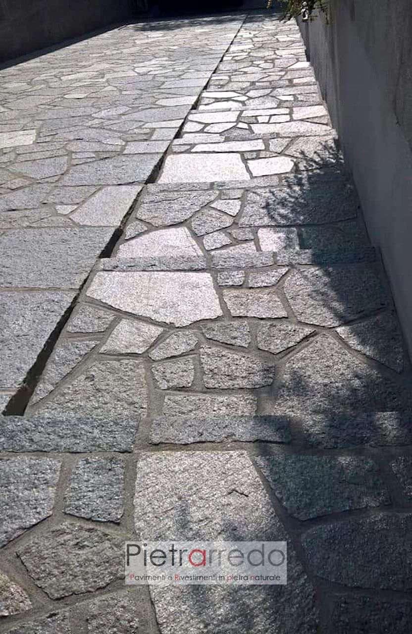 scala scivolo pavimento pietra luserna grigia beola offerta prezzo pietrarredo milano costi palladiana mosaico