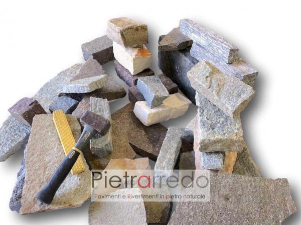 blocco in sasso pietra muro a secco pietrarredo milano costo rustico
