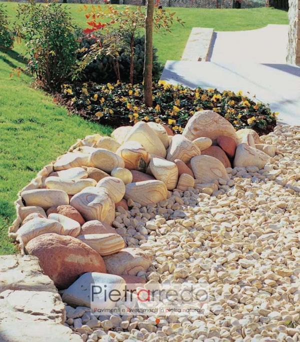 ciottolo giallo mori prezzo stone city granulato zandobbio costo pietre per giardino pietrarredo milano