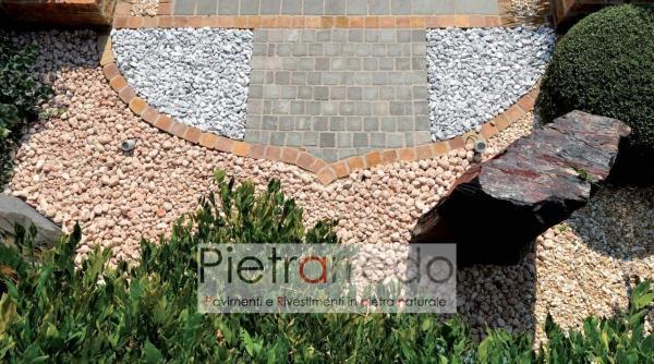 ciottolo rosso verona prezzo 15 25 mm tondo arredo giardino prezzo sacco pietrarredo milano stone garden