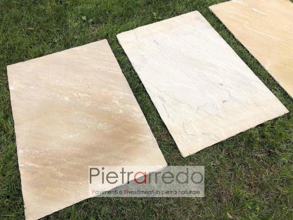 lastre in pietra arenaria per passi giapponesi camminamenti colore mint gialla 60x90cm prezzo pietrarredo milano