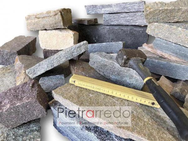 liste e blocchi di pietra a spacco naturale per muri a facciate prezzo costi pietrarredo milano costo