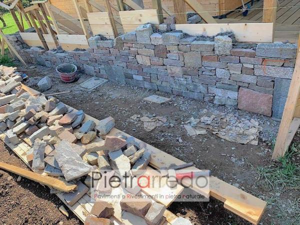 muro barbeque in pietra idee sasso prezzo a secco tranciato pietrarredo milano costo