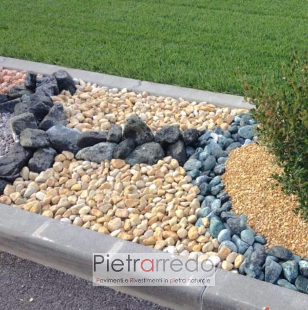 offerta e costo ciottolo colore beige giallo mori terra siena offerta prezzo pietrarreo milano stone garden