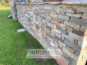 offerta e prezzo muro a secco in pietra con masselli binderi offerta e prezzo costi pietrarredo milano