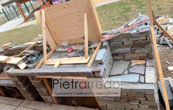 offerta e prezzo pietrarredo milano muro a seccon in sasso pietra lati tranciati senza fuga posa