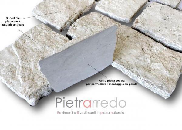offerta e prezzo rivestiento in pietra naturale antiqua pietrarredo milano prezzo colore chiaro per muri e facciate