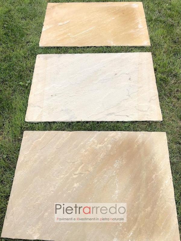 offerta lastre in pietra arenaria mint gialla sandstone pietrarredo milano selciati stone price