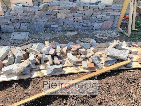 offerta muro in pietra con masselli blocchi grezzi offerta costo pietrarredo milano binderi listelli