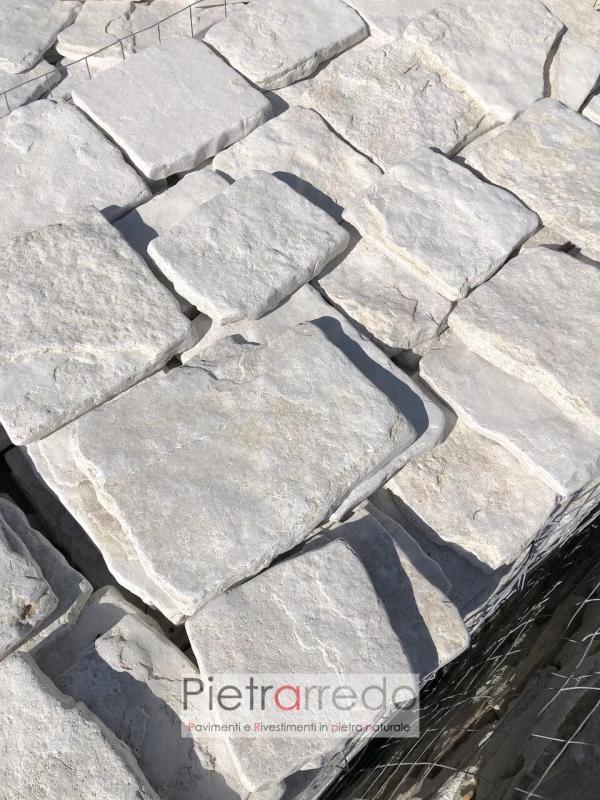 offerta pietrarredo milano pietra antiqua retrosegata anticata squadrata di trani prezzo