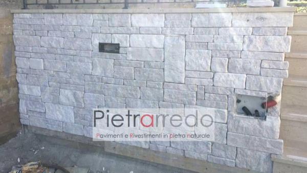 parete rivestita con pietra naturale antiqua pietrarredo milano costo offerta bianca anticata superficie trani chianca