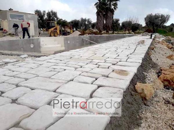 pavimento in pietra naturale chianca pietrarredo milano antiqua trani offerta prezzo